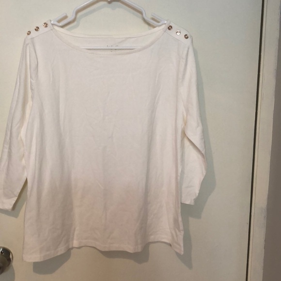a new day Tops - A New Day 3/4 Sleeve Boat Neck Top